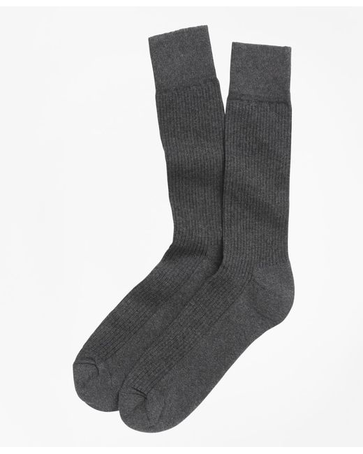 Brooks Brothers - Gray Cotton Cushion Sole Socks for Men - Lyst