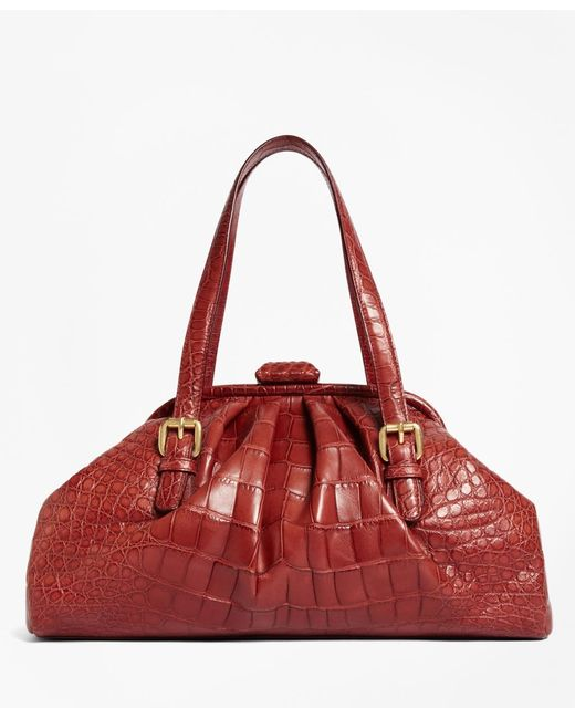 Brooks Brothers | Red Alligator Soft Frame Bag | Lyst