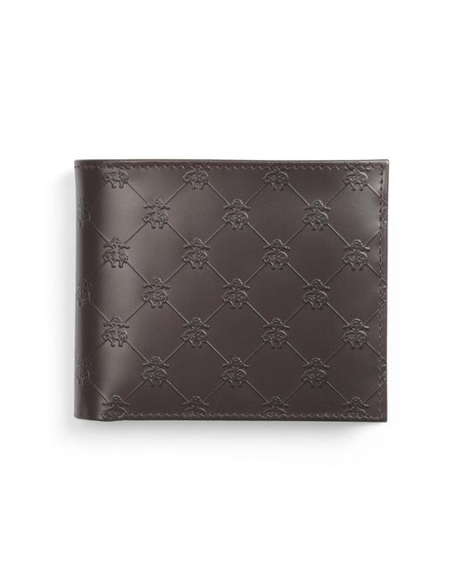 Brooks Brothers | Brown Golden Fleece® Embossed Coin Wallet for Men | Lyst