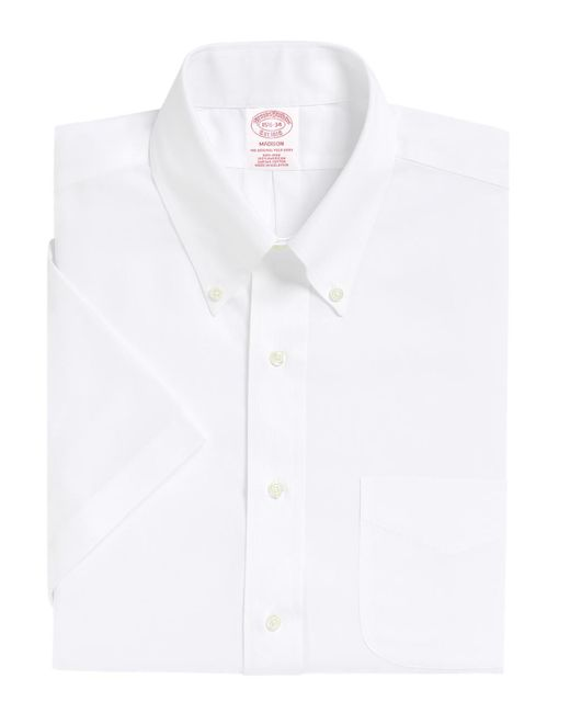 Brooks Brothers - White Non-iron Madison Fit Short-sleeve Dress Shirt for Men - Lyst