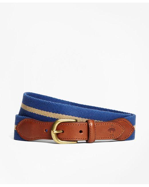 Brooks Brothers | Blue Naval Stripe Belt for Men | Lyst