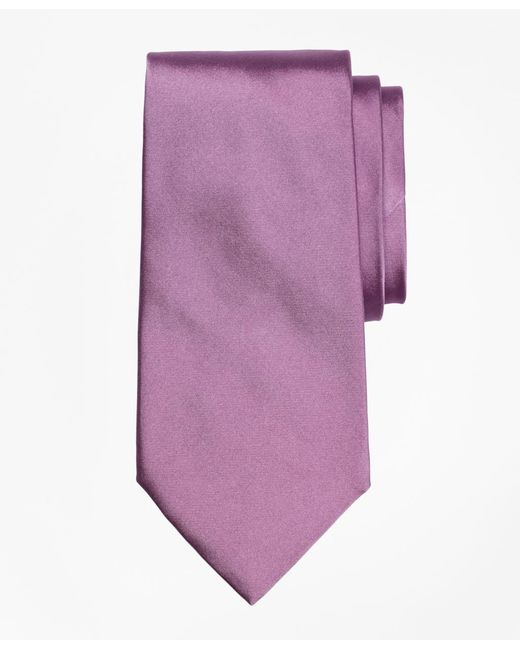 Brooks Brothers | Purple Golden Fleece® 7-fold Satin Tie for Men | Lyst