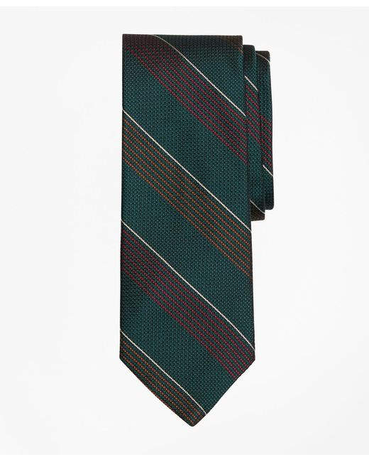 Brooks Brothers - Green Sidewheeler Stripe Tie for Men - Lyst