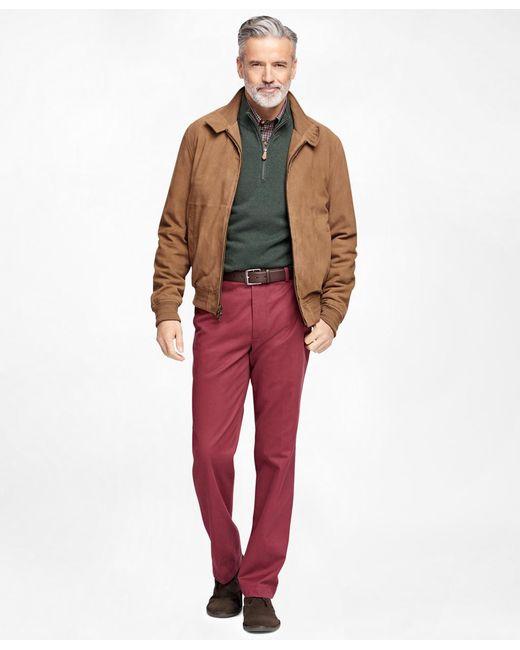 Brooks Brothers | Brown Suede Barracuda Jacket | Lyst