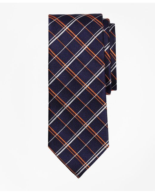Brooks Brothers - Orange Double Alternating Windowpane Tie for Men - Lyst