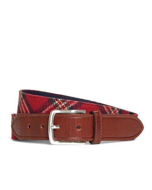 Brooks Brothers - Red Tartan Belt for Men - Lyst