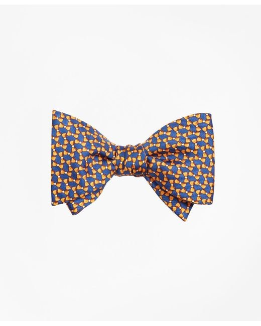 Brooks Brothers - Orange Bow Tie Motif Bow Print Tie for Men - Lyst