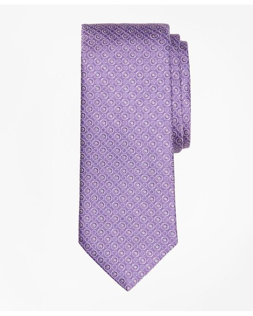 Brooks Brothers - Purple Alternating Open Circle Tie for Men - Lyst