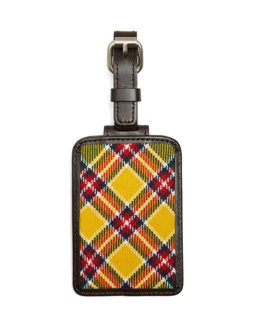 Brooks Brothers - Yellow, Red And White Plaid Luggage Tag for Men - Lyst