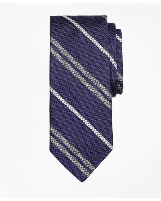 Brooks Brothers - Blue Alternating Double Stripe Tie for Men - Lyst