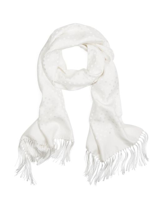 Brooks Brothers - White Polka Dot Jacquard Formal Scarf for Men - Lyst