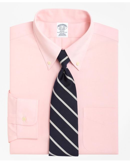 Brooks Brothers - Pink Non-iron Regent Fit Button-down Collar Dress Shirt for Men - Lyst