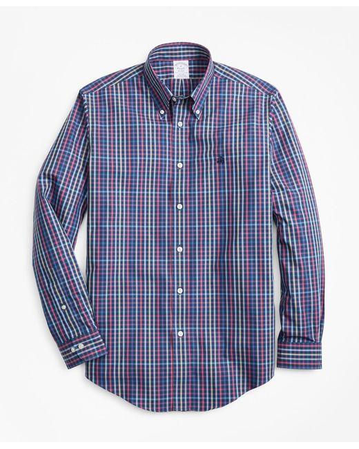 Brooks Brothers - Blue Non-iron Regent Fit Multi-plaid Sport Shirt for Men - Lyst
