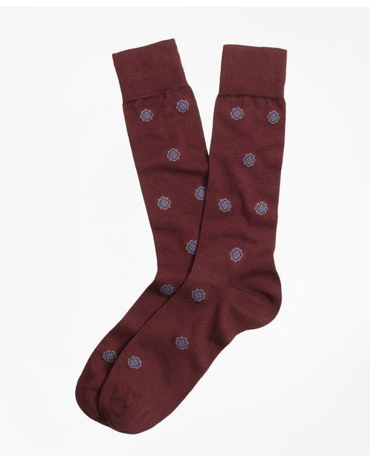 Brooks Brothers - Red Medallion Crew Socks for Men - Lyst