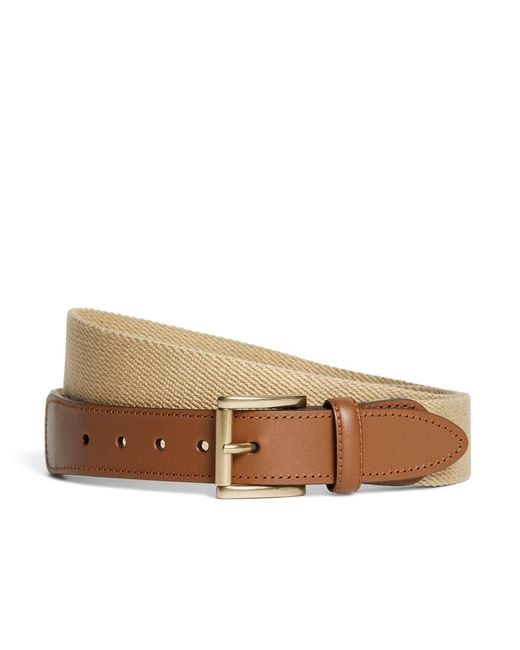 Brooks Brothers | Natural Canvas Leather Belt for Men | Lyst