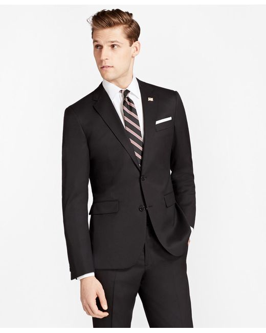 Brooks Brothers | Black Milano Fit Two-button 1818 Suit for Men | Lyst
