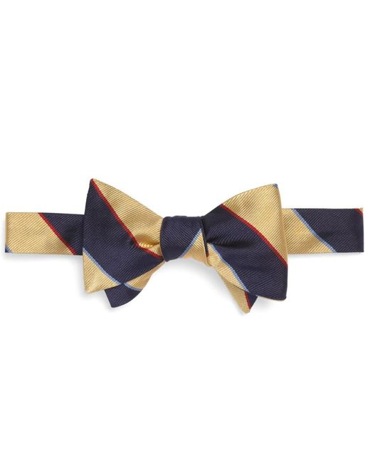 Brooks Brothers | Yellow Argyle Sutherland Rep Bow Tie for Men | Lyst