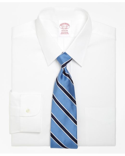 Brooks Brothers | White Madison Fit Forward Point Collar Dress Shirt for Men | Lyst