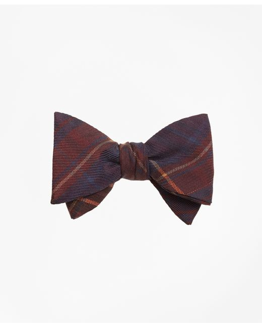 Brooks Brothers | Multicolor Ancient Madder Plaid Print Bow Tie for Men | Lyst