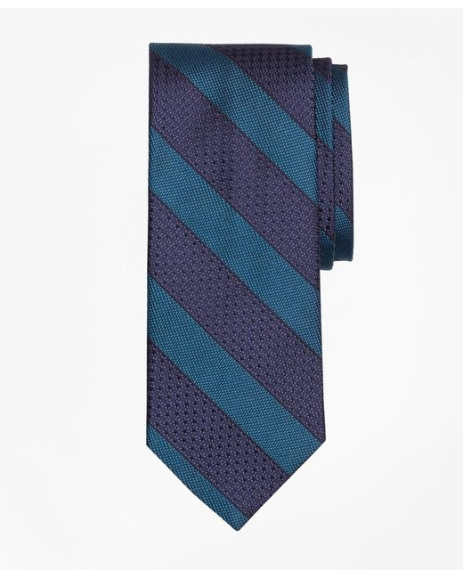 Brooks Brothers | Green Textured Framed Stripe Tie for Men | Lyst