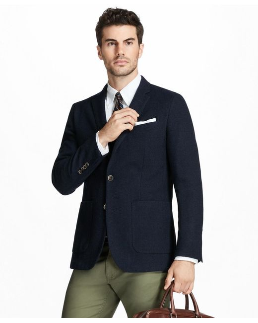 Brooks Brothers | Blue Milano Fit Two-button Textured Blazer for Men | Lyst