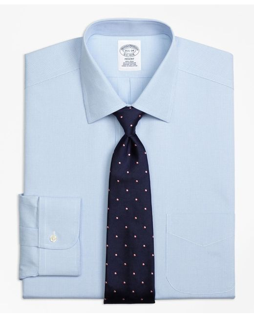 Brooks Brothers | Blue Non-iron Milano Fit Houndstooth Dress Shirt for Men | Lyst