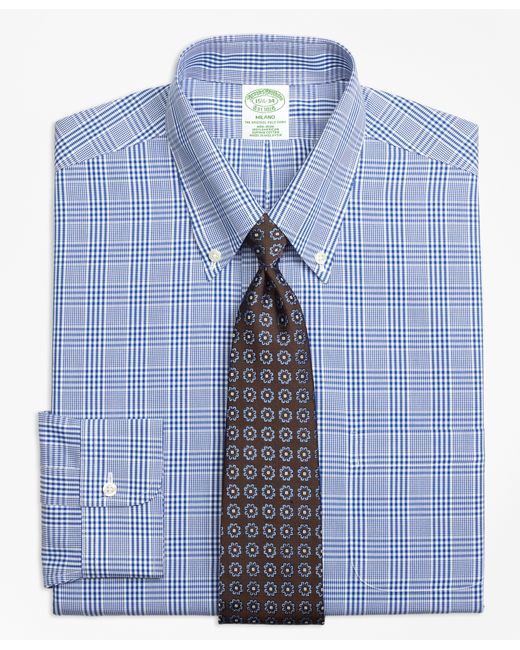 Brooks Brothers | Blue Slim Fit Non-iron Dress Shirt for Men | Lyst