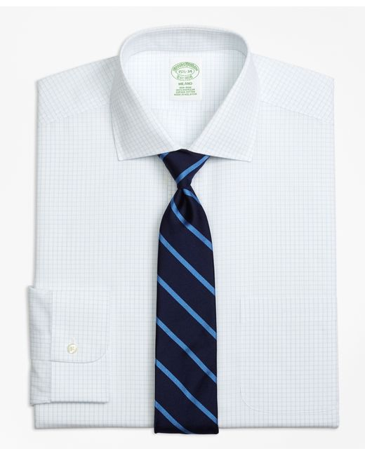 Brooks Brothers | White Non-iron Milano Fit Graph Check Dress Shirt for Men | Lyst