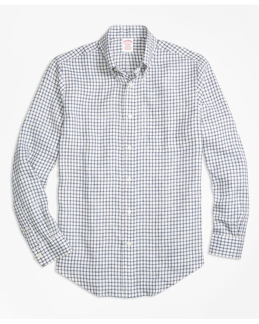 Brooks Brothers   Blue Gingham Cotton Shirt for Men   Lyst
