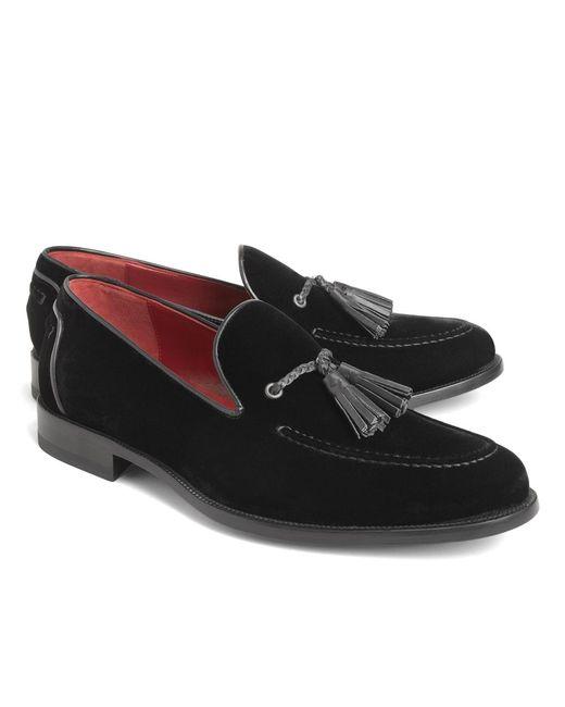 Brooks Brothers | Black Harrys Of London® Velvet Tassel Loafers for Men | Lyst