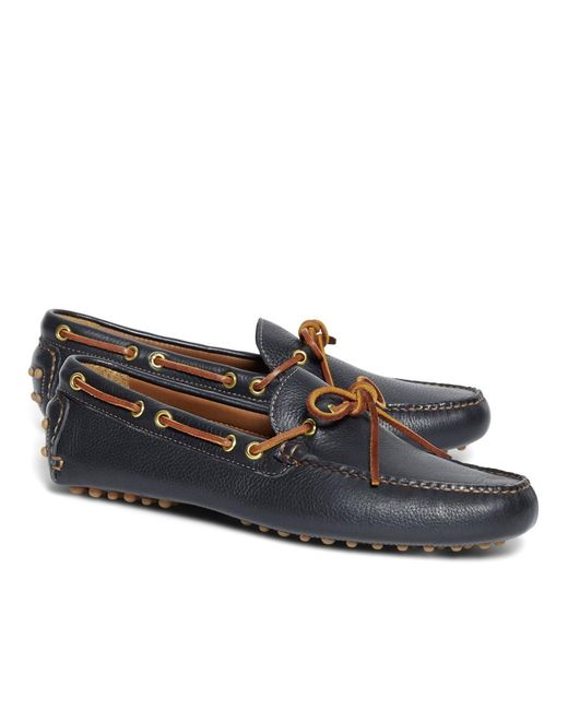 Brooks Brothers | Blue Tie Driving Moccasins for Men | Lyst