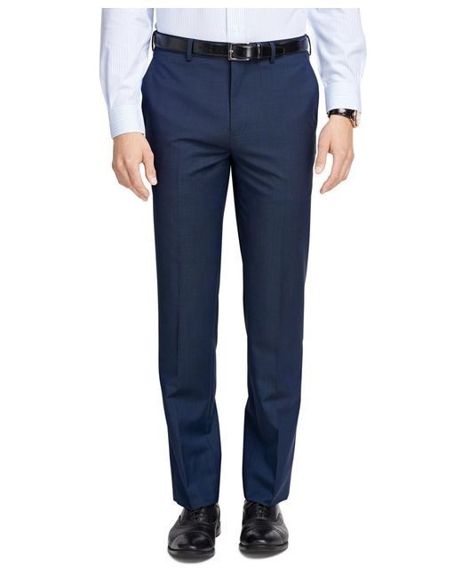 Brooks Brothers | Blue Fitzgerald Fit Wool And Mohair Check Trousers for Men | Lyst