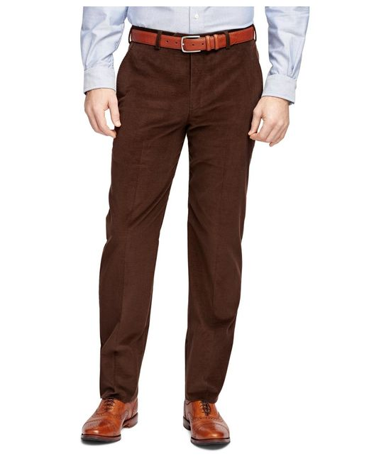 Brooks Brothers | Brown Fitzgerald Fit Corduroy Trousers for Men | Lyst