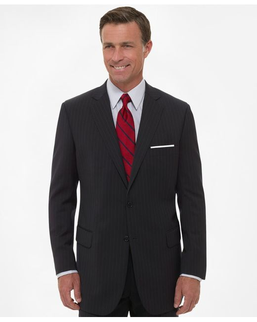 Brooks Brothers | Blue Two-button Suiting Essential Stripe Jacket for Men | Lyst