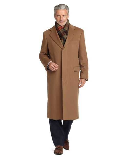 Brooks Brothers | Brown Golden Fleece® Brooksstorm® Westbury Cashmere Overcoat for Men | Lyst