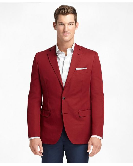 Brooks Brothers | Red Fitzgerald Fit Cotton And Linen Sport Coat for Men | Lyst