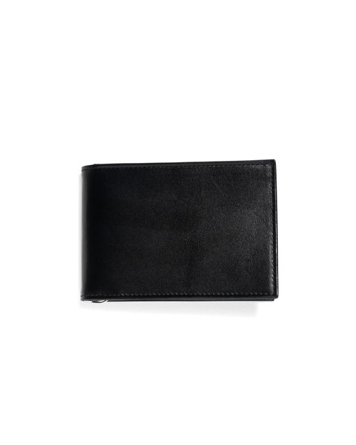 Brooks Brothers | Black French Calfskin Slim Wallet With Money Clip for Men | Lyst