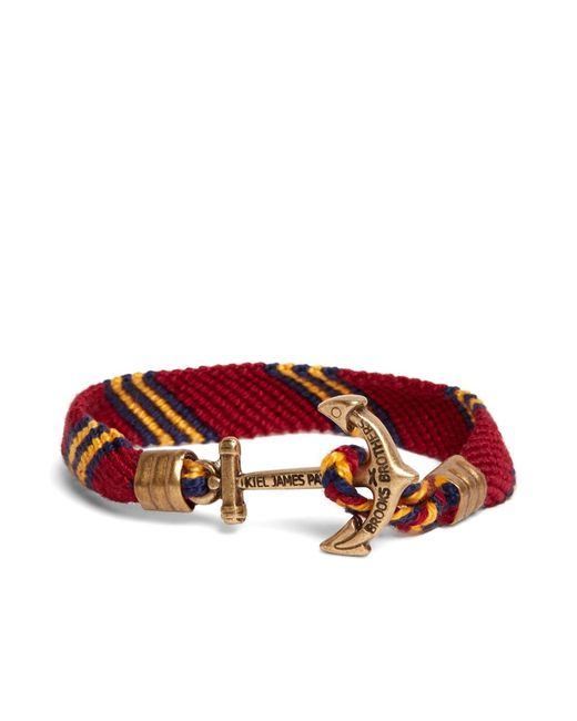 Brooks Brothers | Red Kiel James Patrick Burgundy Hitch Knot Braided Bracelet for Men | Lyst