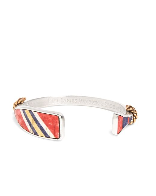 Brooks Brothers | Kiel James Patrick Red, Navy And Yellow Oar Bangle for Men | Lyst