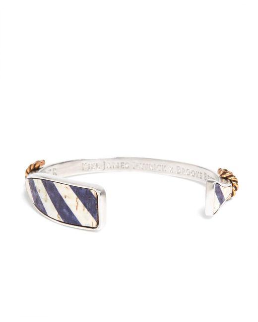 Brooks Brothers | Metallic Kiel James Patrick Navy And White Oar Bracelet for Men | Lyst