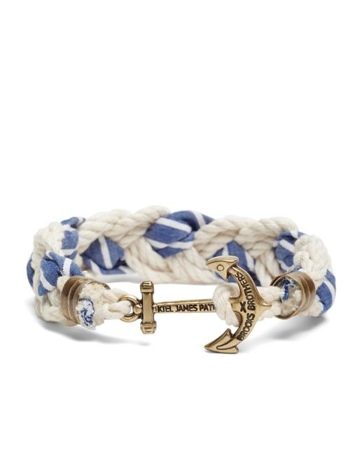 Brooks Brothers | Blue Kiel James Patrick Seersucker Stripe Braided Bracelet for Men | Lyst