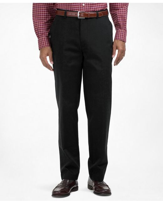 Brooks Brothers | Black Clark Fit Plain-front Lightweight Advantage Chinos® for Men | Lyst