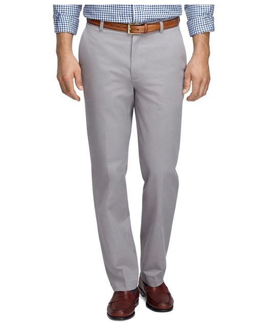 Brooks Brothers | Gray Clark Fit Vintage Washed Chinos for Men | Lyst