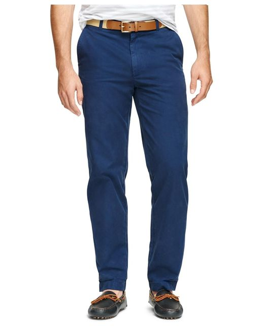 Brooks Brothers | Blue Clark Fit Garment-dyed Chinos for Men | Lyst