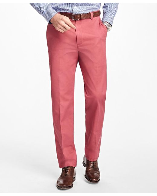 Brooks Brothers | Red Clark Fit Supima® Cotton Stretch Chinos for Men | Lyst