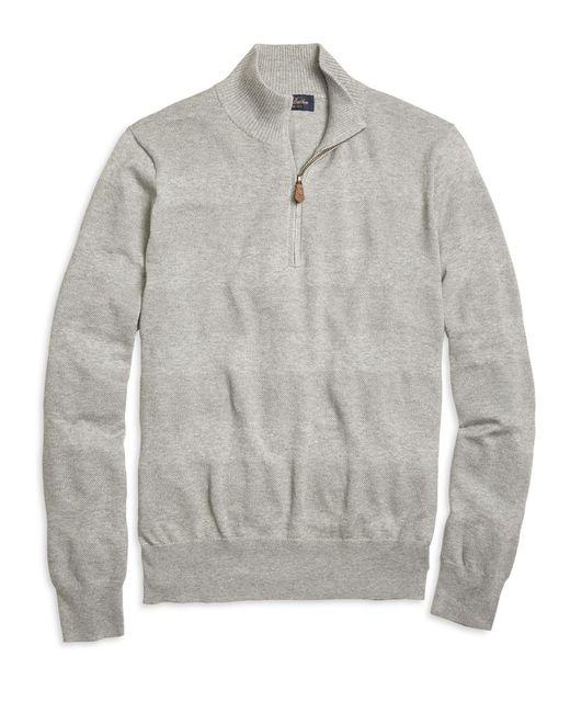 Brooks Brothers | Gray Textured Stripe Half-zip Sweater for Men | Lyst