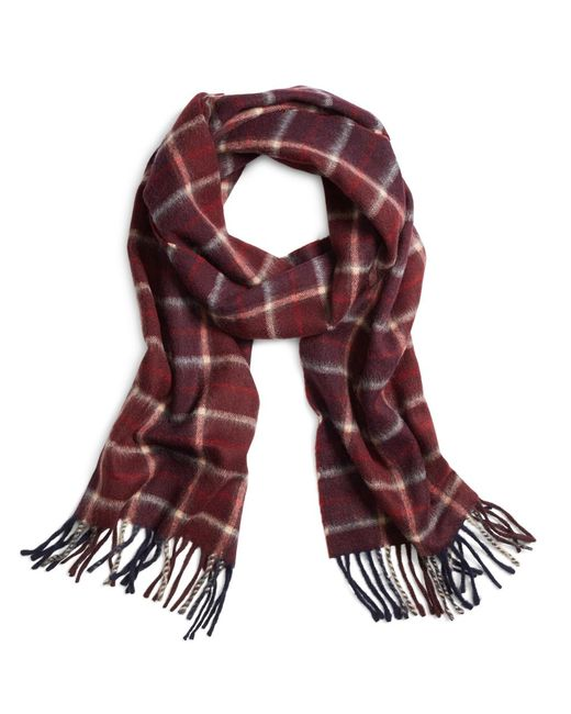 Brooks Brothers | Purple Two-color Plaid Scarf for Men | Lyst