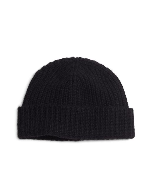 Brooks Brothers | Black Ribbed Cashmere Hat for Men | Lyst