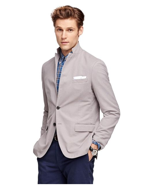 Brooks Brothers | Gray Cotton Sport Coat | Lyst