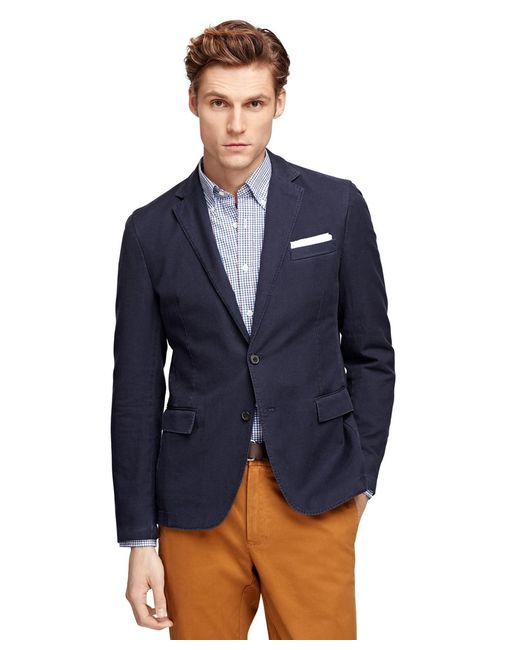 Brooks Brothers | Blue Cotton Sport Coat | Lyst